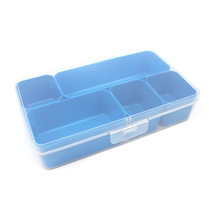 Q-line Blue Mixed Divider Box Incl. 5 Demountable Baskets