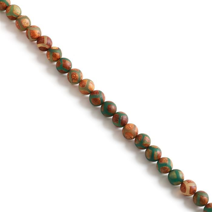 270cts Antique Green  Agate Plain Rounds Approx 10mm, 38cm strand