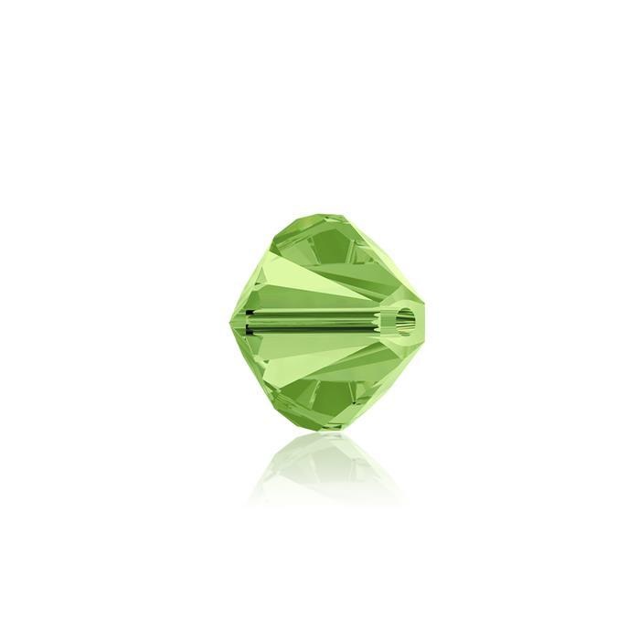 Swarovski Crystal Beads - Pack of 24 Bicones 5328 - 6mm Peridot