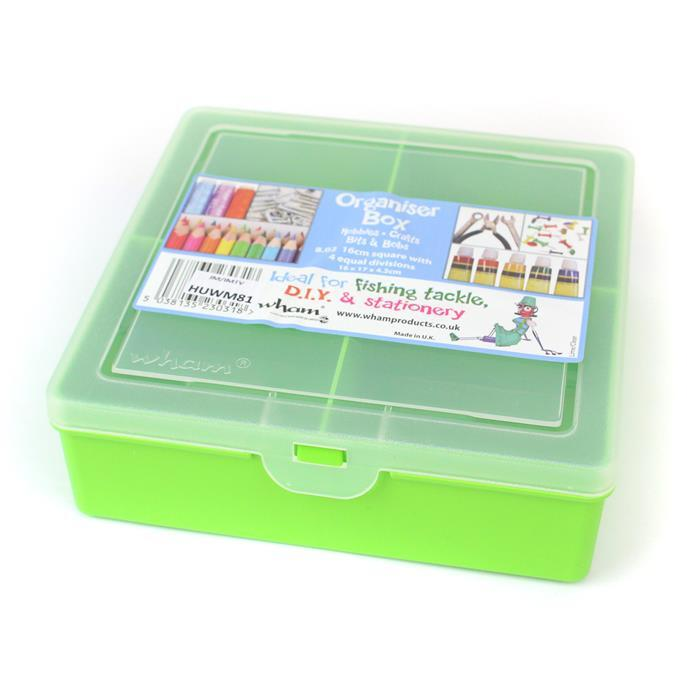 Lime Organiser with 4 divisions 8.02 Square 16x17x5cm