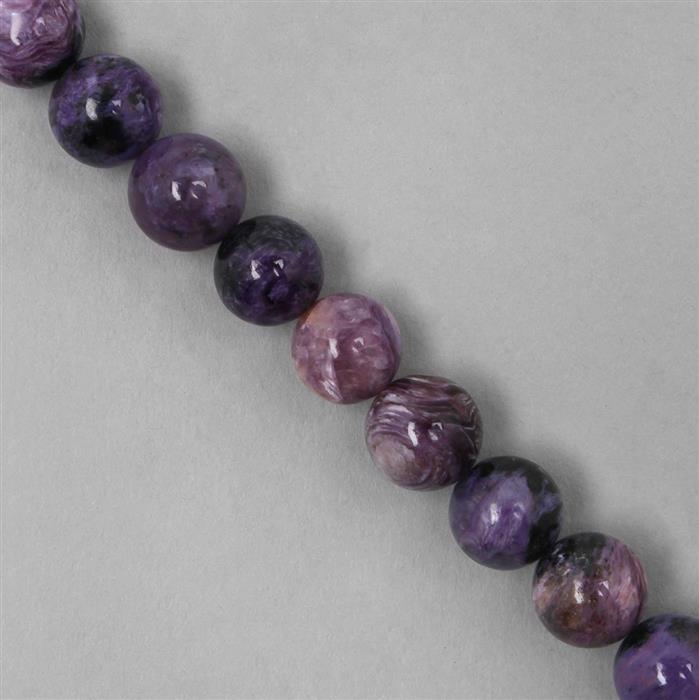 260cts Charoite Plain Rounds Approx 10mm (38cm)
