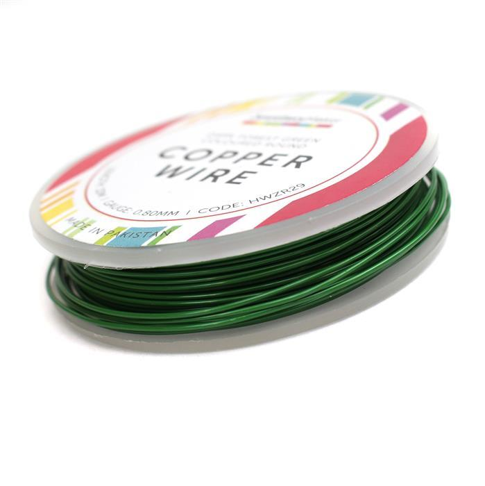 10M Dark Forest Green Wire 0.80mm