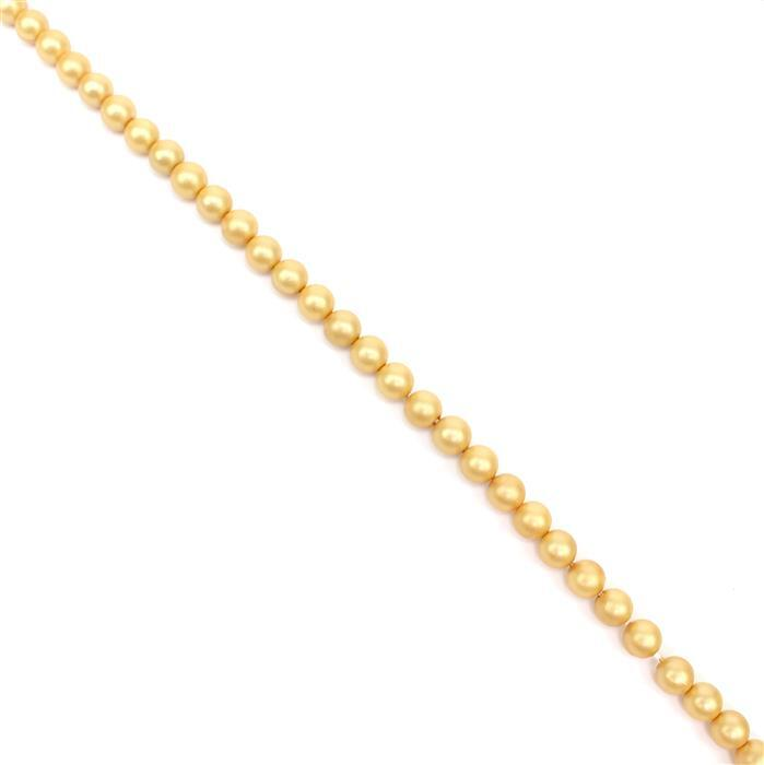 Sunlight Matt Shell Pearl Plain Rounds Approx 6mm, 38cm length