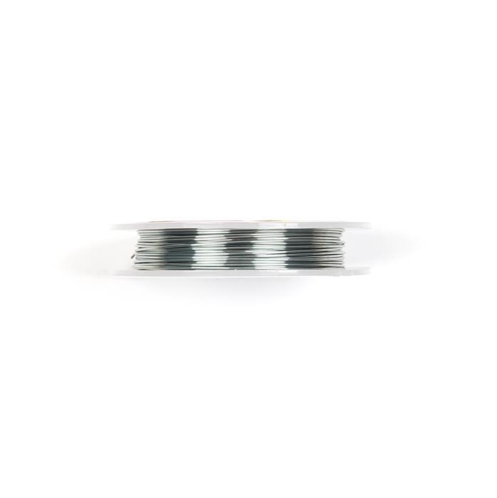 10m Grey Coloured Silver Plated Copper Wire 1.00mm