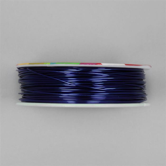 50m Blue Coloured Copper Wire Approx 1.00mm
