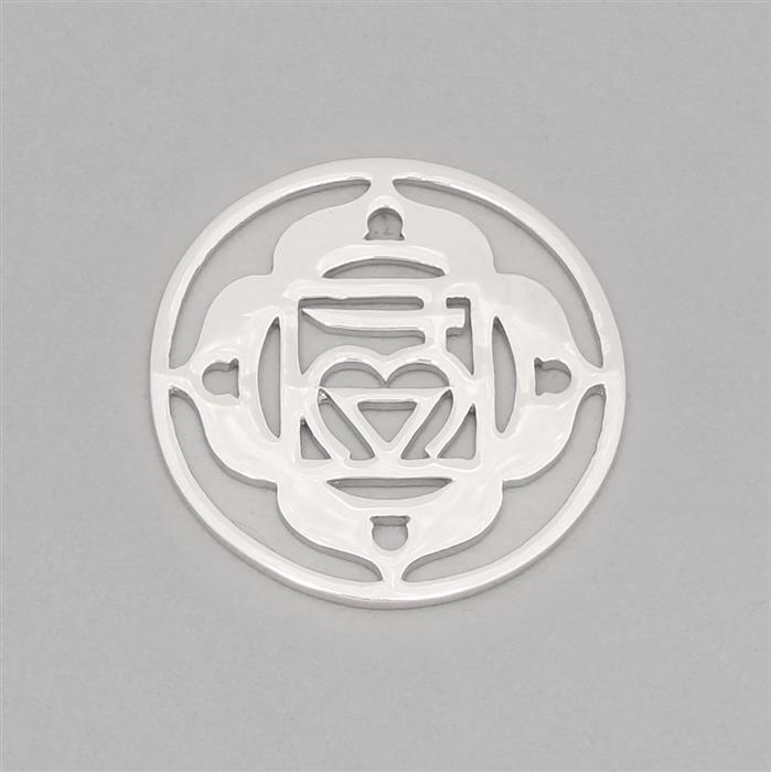 925 Sterling Silver Earth Chakra Connector Approx 23mm