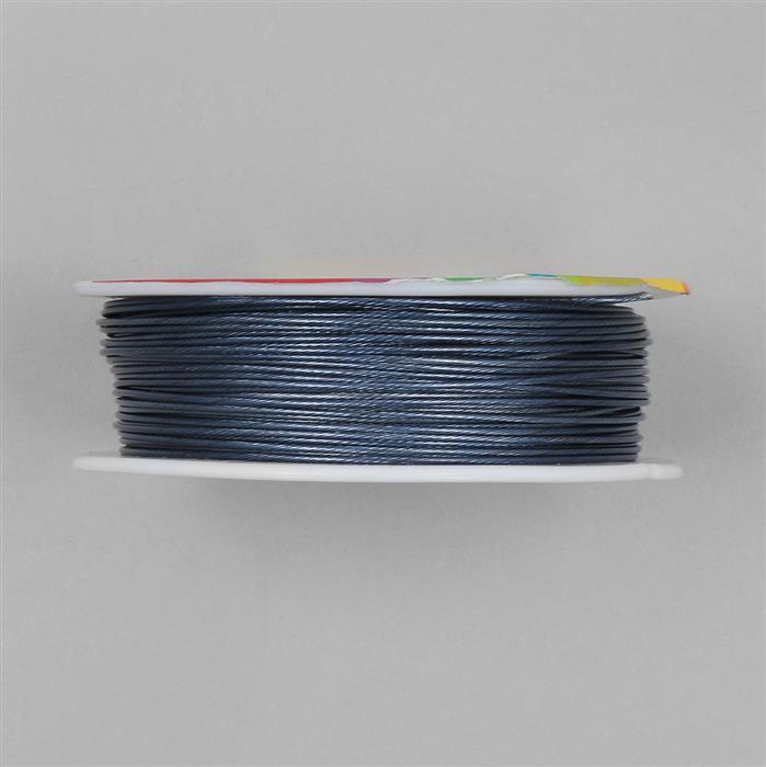 50m Grey Colour Stainless Steel Beading Thread 1mm