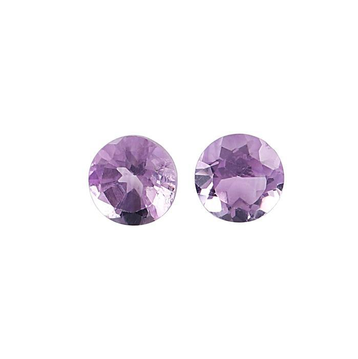 1.20cts Brazilian Amethyst Brilliant Cut Round 6mm. (Pack of 2)