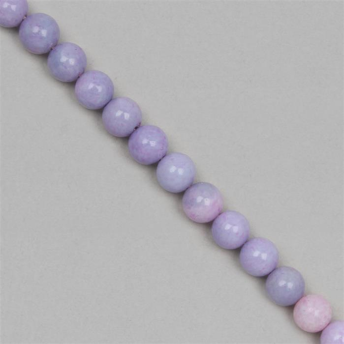 30cts Lavender Opal Plain Rounds Approx 5mm, 18cm Strand.