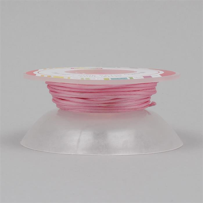 10m Light Pink Satin Cord 1mm on Bobbin