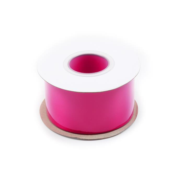 20m Shocking Pink Double Faced Satin Ribbon, Width Approx 50mm