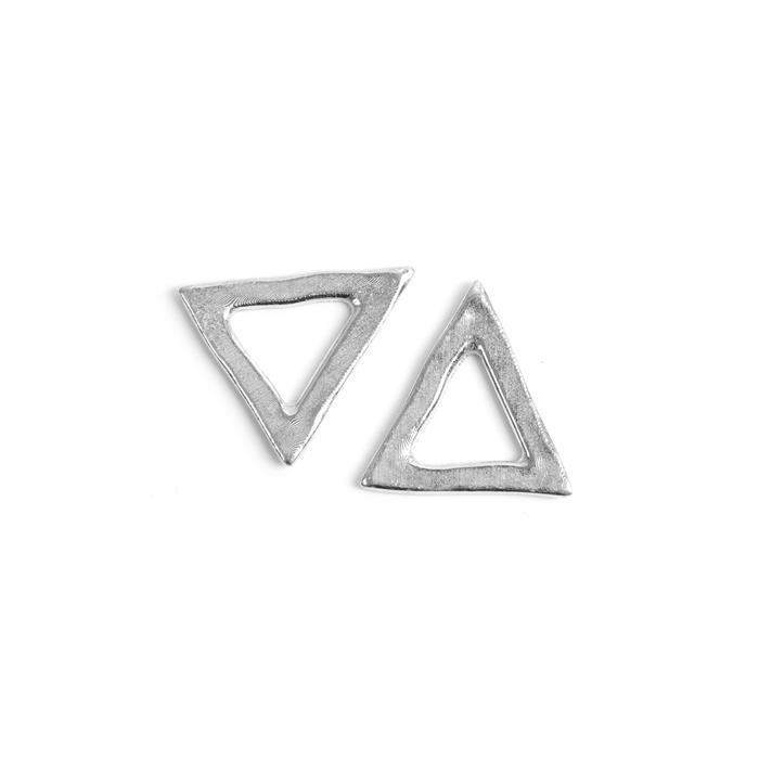 Impress Art Pewter Triangle Stamping Blanks, Large (2pk)