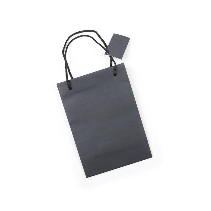 Essential Black Gift Bag, 152x76x216mm (10pk)