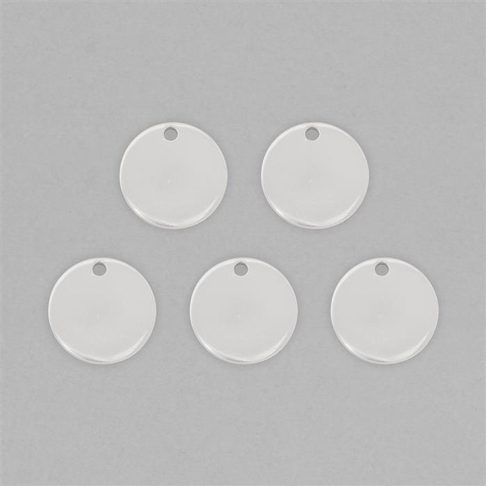 Silver Plated Round Brass Stamping Blank Approx 25mm & Thickness Approx 2mm (5pcs)