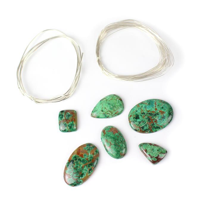 Malachite Magic Jewellery Kit Inc 185cts Malachite Multi Shape Cabochons