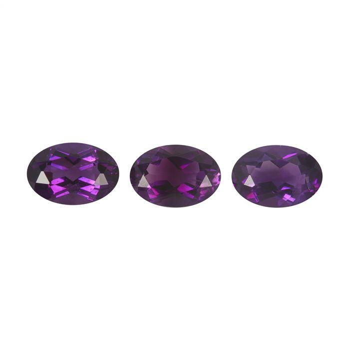 1.1cts Moroccan Amethyst Brilliant Oval Approx 6x4mm