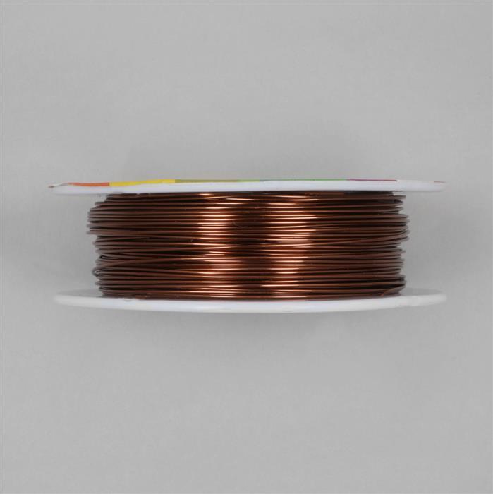 50m Brown Coloured Copper Wire Approx 0.80mm | JewelleryMaker.com