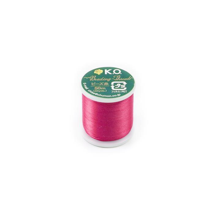 KO Beading Thread Scarlet Pink Approx 50m