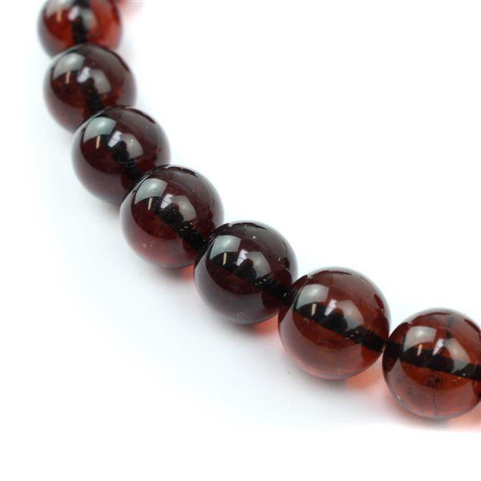 Baltic Cherry Amber Plain Rounds Approx 14mm, 20cm strand