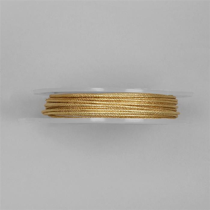 5m Gold Plated Moroccan Patterned Copper Wire Approx 1.50mm
