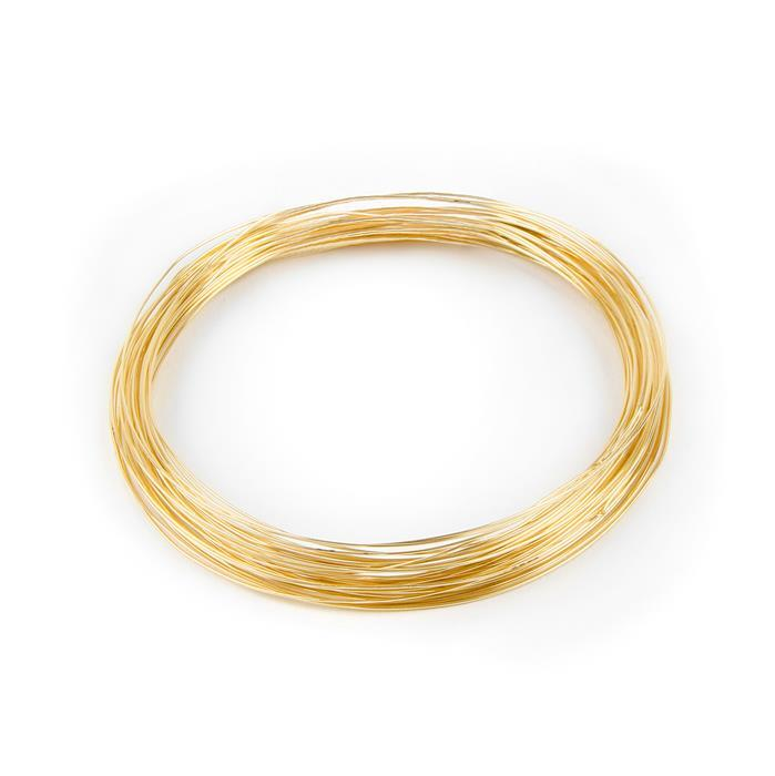 Champagne Gold Coloured Silver Plated Copper Wire - 0.2mm (25m)