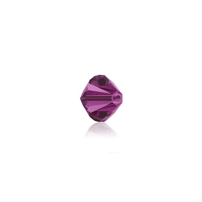 Swarovski Crystal Beads - Pack of 24 Bicones 5328 - 4mm Fuchsia