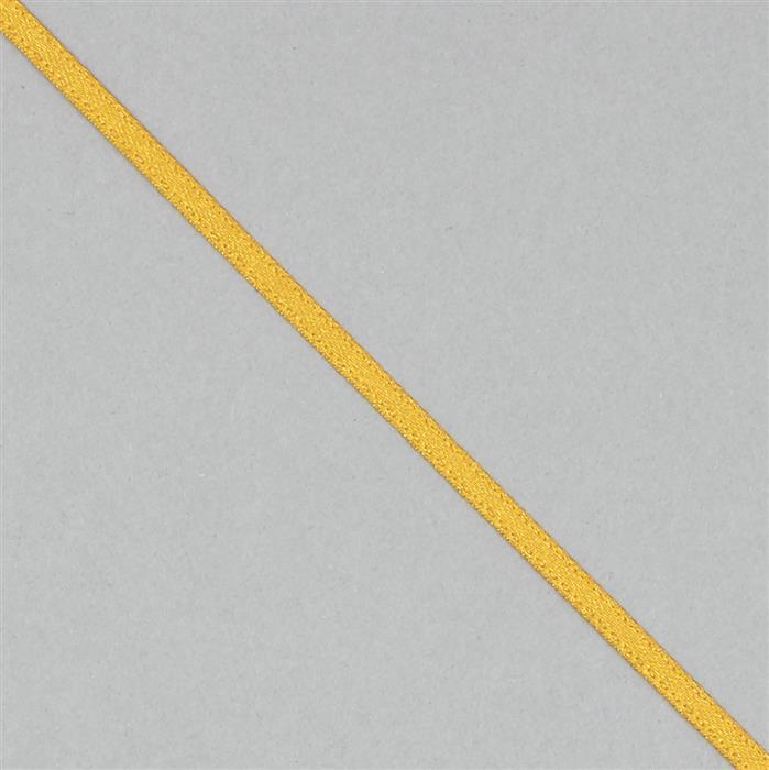 30m Mustard Satin Ribbon 3mm