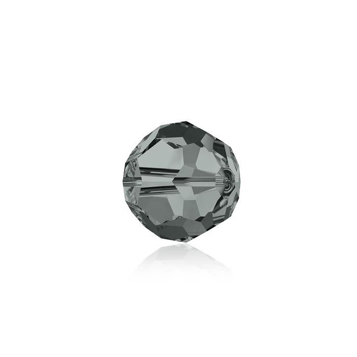 Swarovski Crystal Beads - Pack of 12 Round 5000 - 6mm Black Diamond