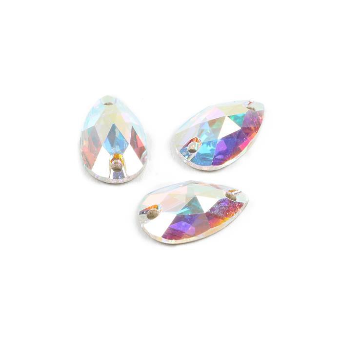 Swarovski Crystal AB Sew On Drops 12x7mm, 3pk
