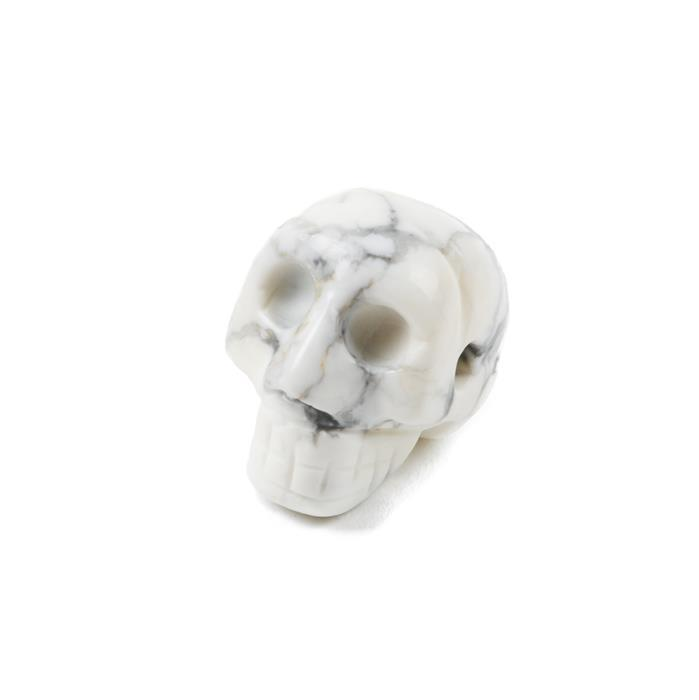 100cts Howlite Fancy Carved Skull Pendant Approx 30x27mm Side Drilled Hole