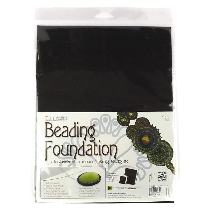 Large Black Beading Foundation 8.5x11""