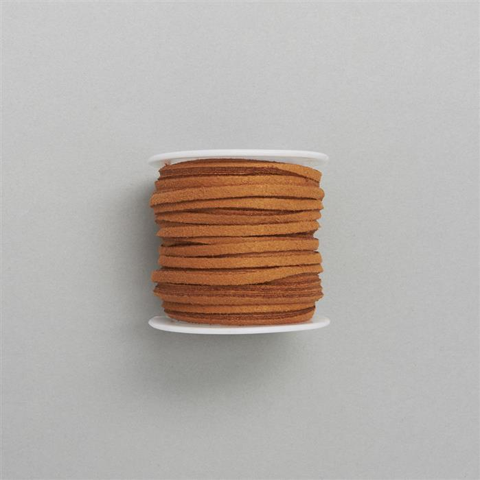 5m Tan Suedette Cord Approx 1.4 x 2.5mm