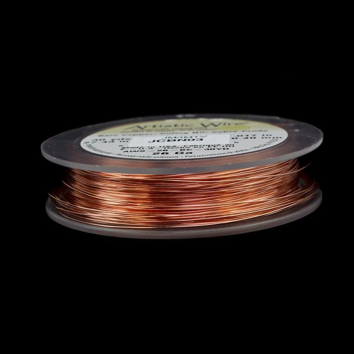 Artistic Wire Bare Copper 26 Gauge (0.40mm), 30YD (27.43m)