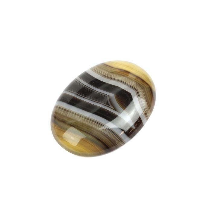 40cts Coffee Stripe Agate Oval Cabochon Approx 30x40mm,