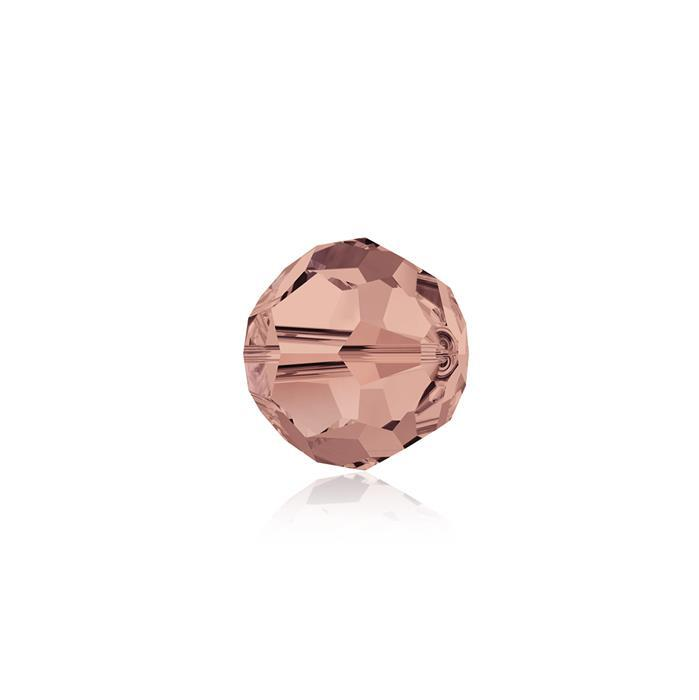 Swarovski Crystal Beads - Pack of 12 Round 5000 - 6mm Blush Rose