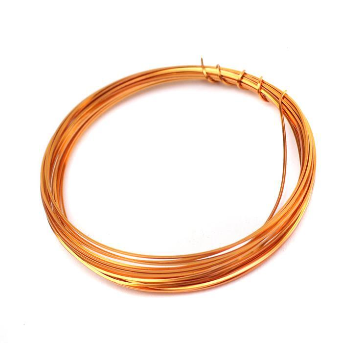 Copper Coloured Copper Square Wire - 0.5mm (3m)
