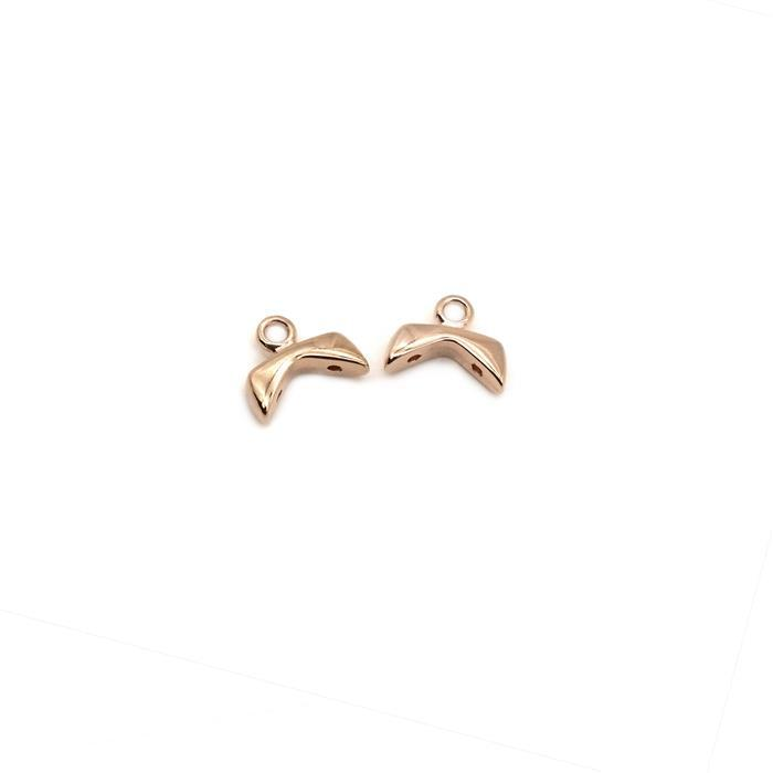Cymbal Koutalas - Chevron Bead Ending - Rose Gold Plated (2pk)