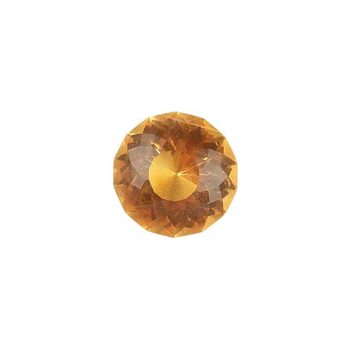 8.50cts Golden Citrine Special Cut Round 14mm.