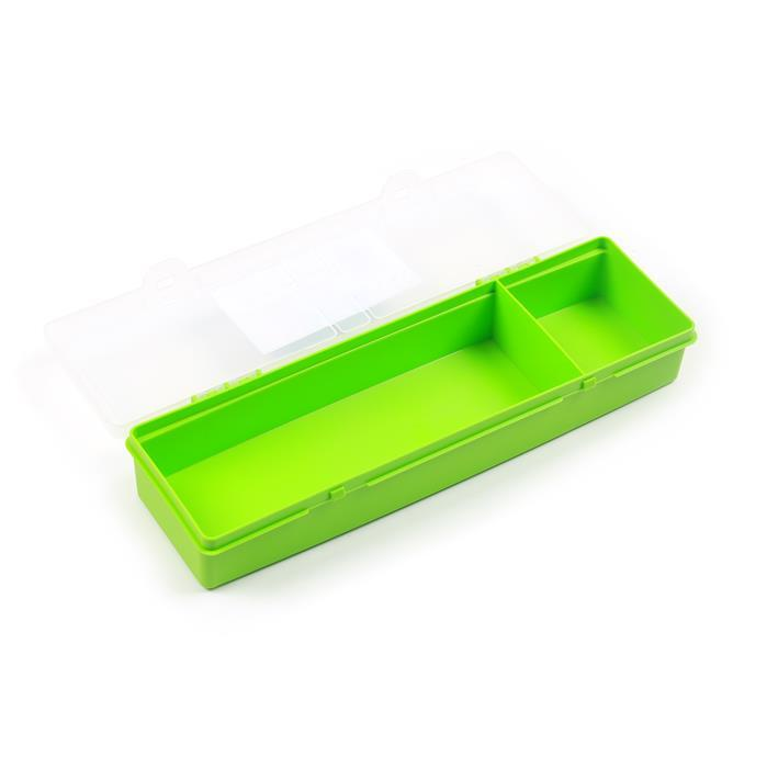 Lime Organiser Box with 2 Divisions 30x10x4.5cm