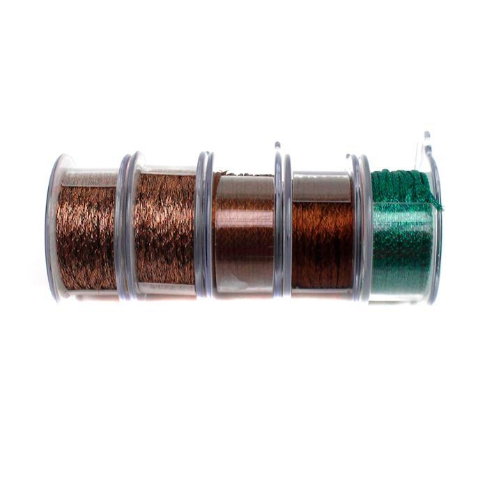 50 Yards Wire Mesh 1mm, Inc; Cocoa, Chocolate & Emerald.