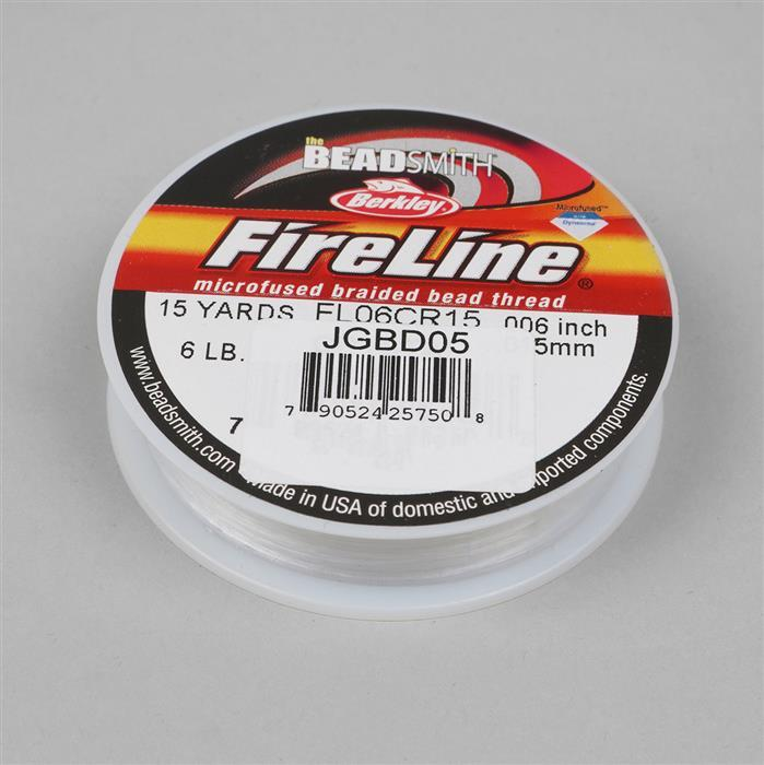6lb Fireline Crystal 0.006in/0.15mm Diameter 15 yds