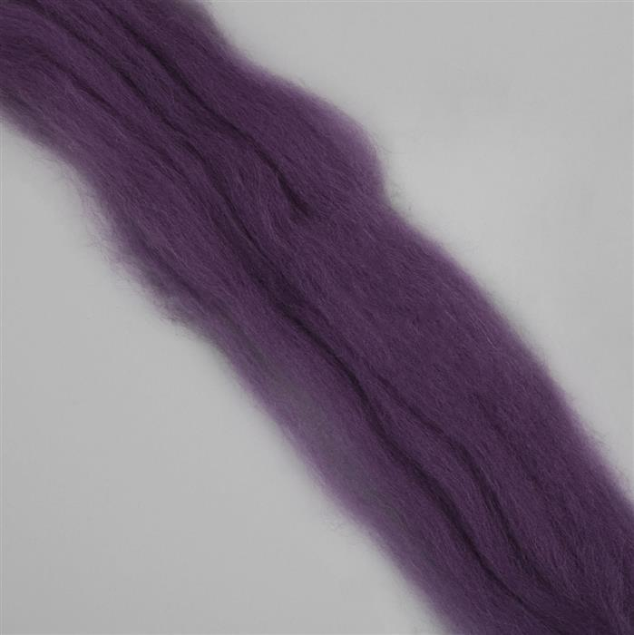 Shetland Top Heather Felting Wool 100g