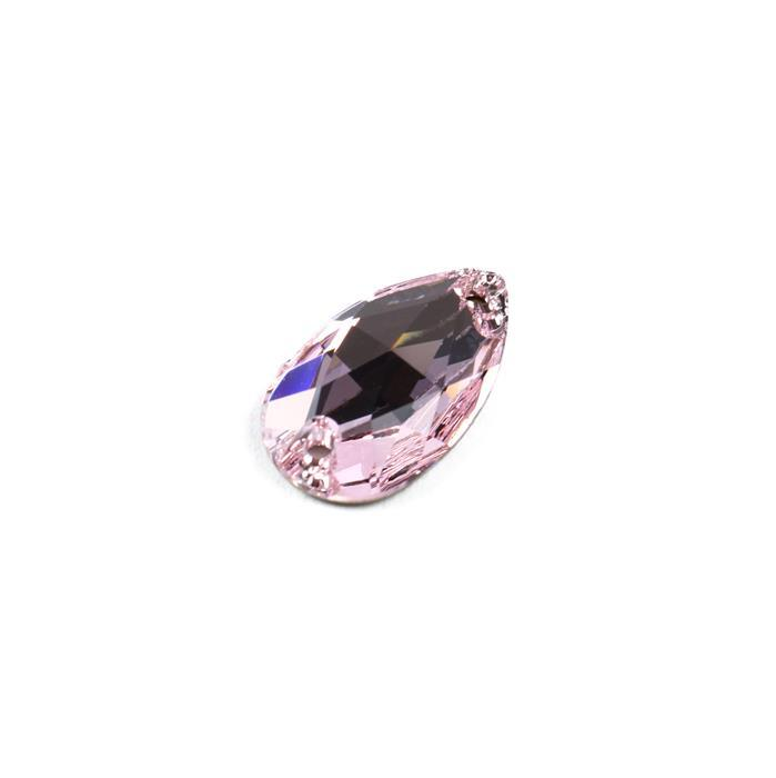 Swarovski Drop Sew On Stone 3230 Rosaline F 18x10.5mm 1pk