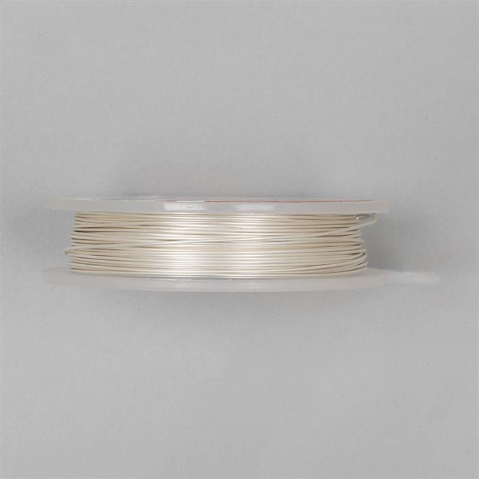 10m Pearl Coloured Copper Wire 0.60mm