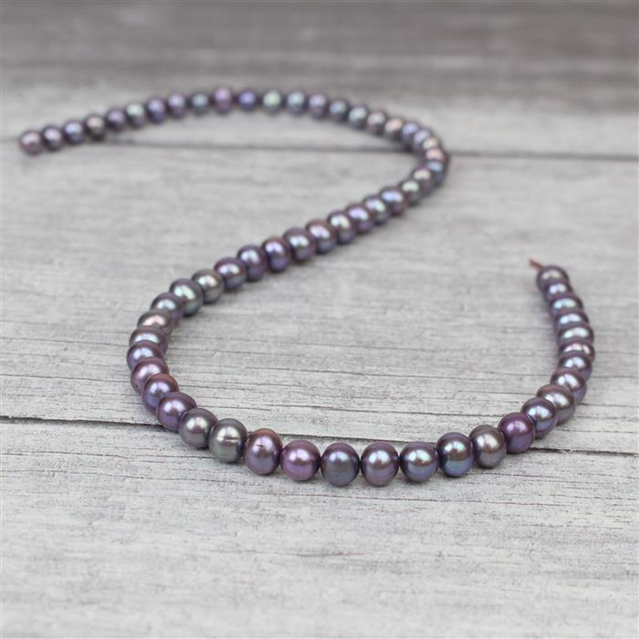 Lavender Freshwater Cultured Potato Pearls Approx 6-7mm, Approx 38cm Strand