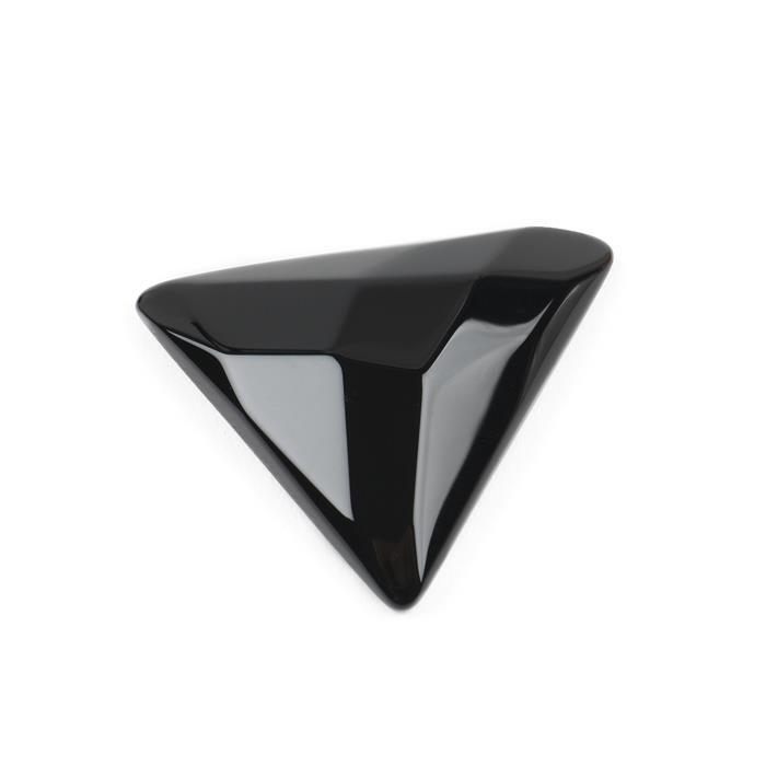 50cts Black Agate Faceted Triangle Cabochon Approx 40mm