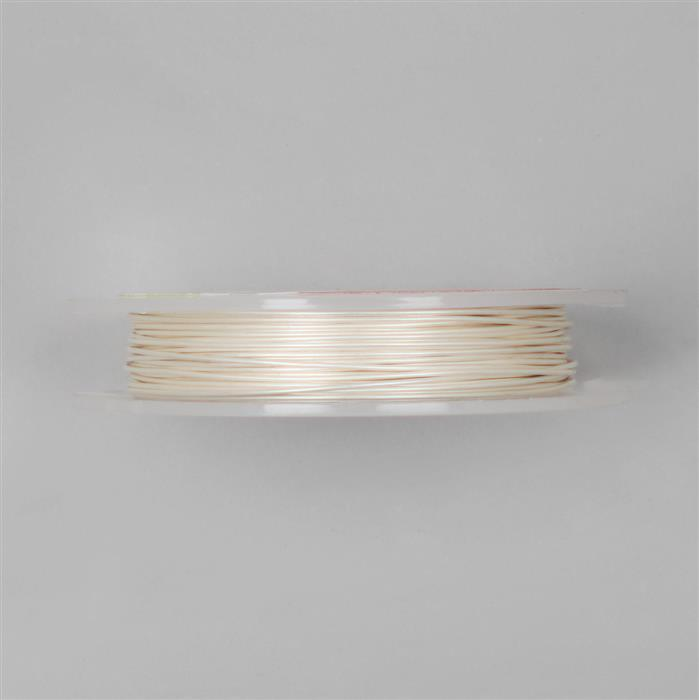 10m Pearl Coloured Copper Wire 1.00mm