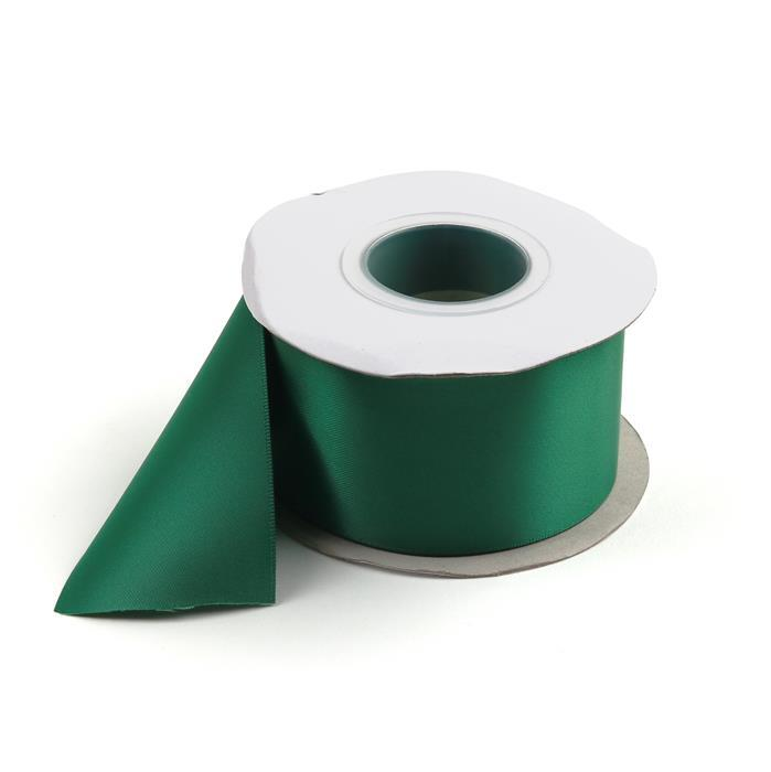 20m Forest Green Double Faced Satin Ribbon, Width Approx 50mm