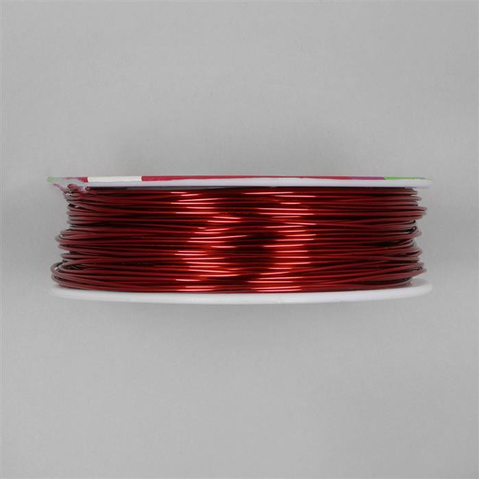 50m Deep Red Coloured Copper Wire 1.00mm