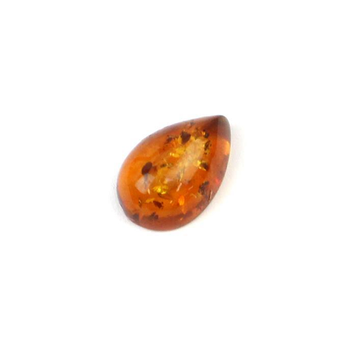 Baltic Cognac Amber Drop Cabochon 15x10mm